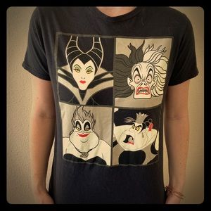 Disney villains black tee t shirt size women s